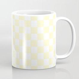 Checker (Cream/White) Coffee Mug