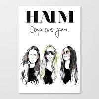 haim Canvas Prints featuring Haim Days are gone by Mariam Tronchoni