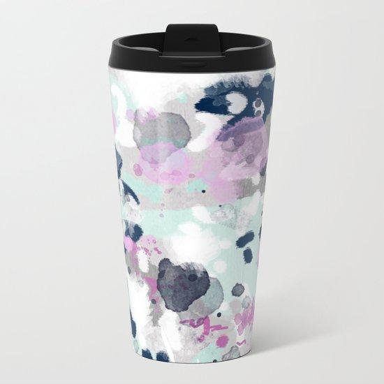 Berti - abstract minimal trendy color palette hipster home decor Metal Travel Mug