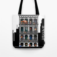 donkey kong Tote Bags featuring Donkey Kong City by Ryan Huddle House of H