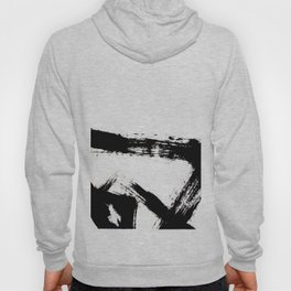 Brushstroke [8] - a simple, abstract, black and white india ink piece Hoody