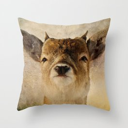 Little antlers Throw Pillow