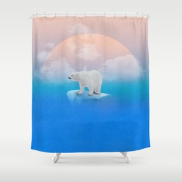 Onto the Shore  Shower Curtain