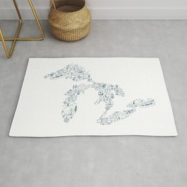Great Lakes Up North Collage Rug
