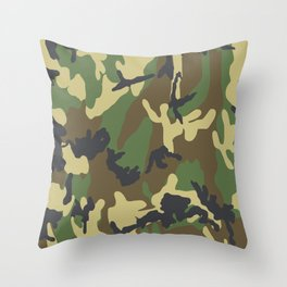 Woodland Camo Throw Pillow