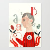 letters Canvas Prints featuring LETTERS by Sara Stefanini