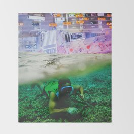Nightswimming Throw Blanket