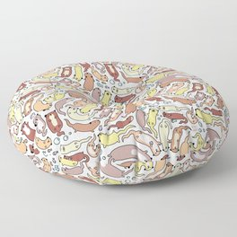 Adorable Otter Swirl Floor Pillow