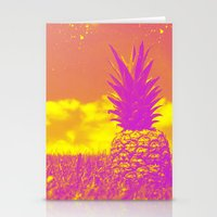pinapple Stationery Cards featuring Pinapple  by creativenomad