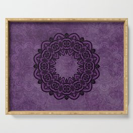 Circle in Purple Serving Tray