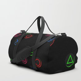 PS4 controller buttons neon aesthetics Duffle Bag