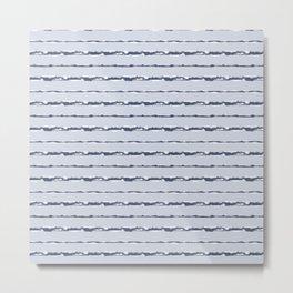 Denim Cloud Stripe 1 Metal Print