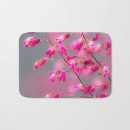 small pink flowers Bath Mat