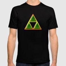 Triforce In Matrix Mens Fitted Tee MEDIUM Black