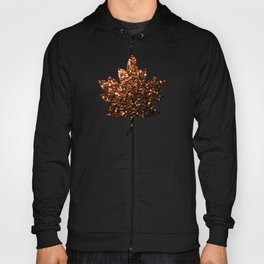 Beautiful Bronze Orange Brown glitters sparkles Hoody