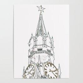 Kremlin Chimes- white Poster