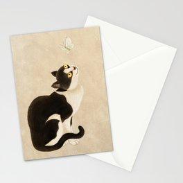 Minhwa: cat & butterfly (Korean traditional/folk art) Stationery Cards