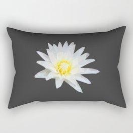 White Lotus Flower Rectangular Pillow