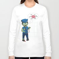 police Long Sleeve T-shirts featuring Zombie Police by Jelo