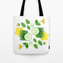 Cucumber and Mint Tote Bag