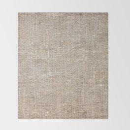 Len Sack Fabric Texture Throw Blanket
