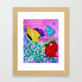 Love Birds - Quirky Birds Series Framed Art Print
