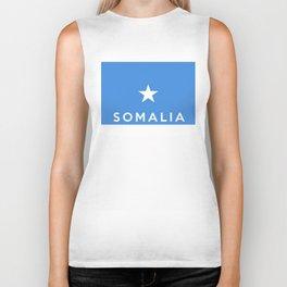 Somalia country flag name text Biker Tank