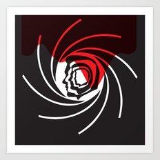 Bond Heads Silhouette Art Print