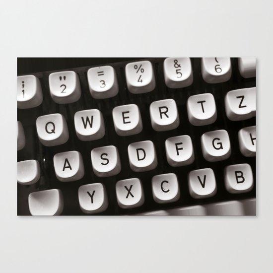 OLD TYPEWRITER Canvas Print