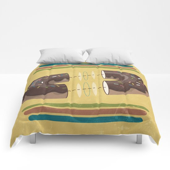 let's share a donut  Comforters