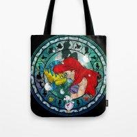 ariel Tote Bags featuring Ariel by Mazuki Arts