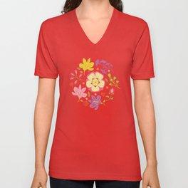Oriental Blooms Unisex V-Neck