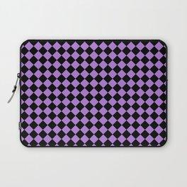 Black and Lavender Violet Diamonds Laptop Sleeve