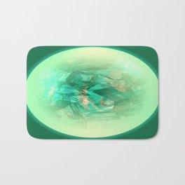 Chrystal Glow Green Abstract Bath Mat