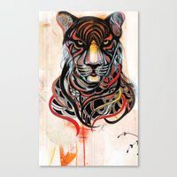 tiger Canvas Prints featuring Tiger by Felicia Cirstea