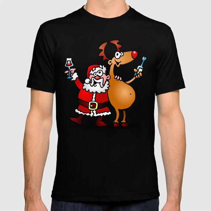 Santa Claus and his Reindeer T-shirt