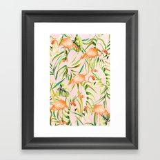 Sorbet Flamingo palms Framed Art Print