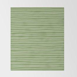 Greenery Pinstripes Throw Blanket