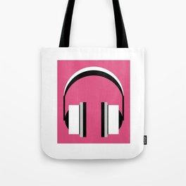 Headphones in fandango pink Tote Bag