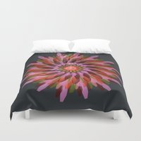 edm Duvet Covers featuring Falling Bloom by Obvious Warrior