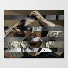 """Gustave Courbet """"The Desperate Man"""" Self Portrait & James Stewart in Vertigo Canvas Print"""