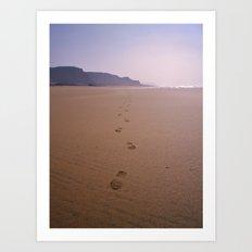 THE WHOLE BEACH TO MYSELF Art Print
