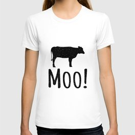Cow Moo Funny Animal T-Shirt T-shirt