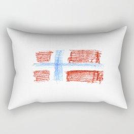 flag of norway 8 – Chalk version  snow,scandinavia,scandinavian,norwegian,oslo Rectangular Pillow