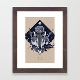 Sif the Great Grey Wolf Framed Art Print