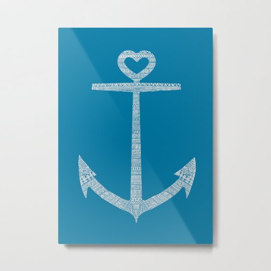 Love is the anchor Metal Print