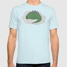 Asleep on a Cloud.  Light Blue Mens Fitted Tee SMALL