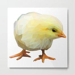 Yellow Chick Lowpoly Art Illustration Metal Print