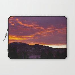 Sunset Over Crow Peak Laptop Sleeve