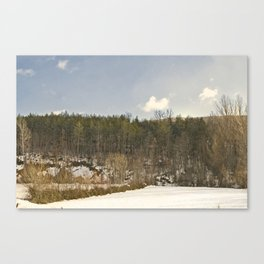 Fresh air in the mountain Canvas Print